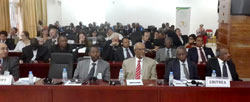"""""""Human trafficking is a crime against humanity""""   H.E. MR. OSMAN SALEH MINISTER OF FOREIGN AFFAIRS OF THE STATE OF ERITREA"""