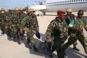 Ethiopian military base in Somalia.